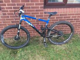 Gaint full suspension mountain bike open to offers