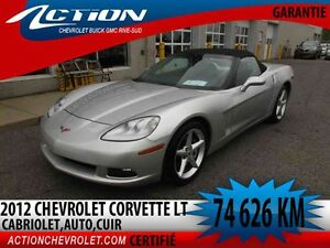 2012 CHEVROLET CORVETTE CONVERTIBLE LT,AUTO,AIR,CUIR