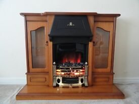 Electric Bolero Fire and Glass Door Cabinet Surround