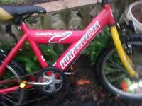 childs red bike