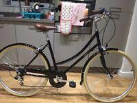 Bobbin Metropole ladies bicycle, black vintage-style city bike