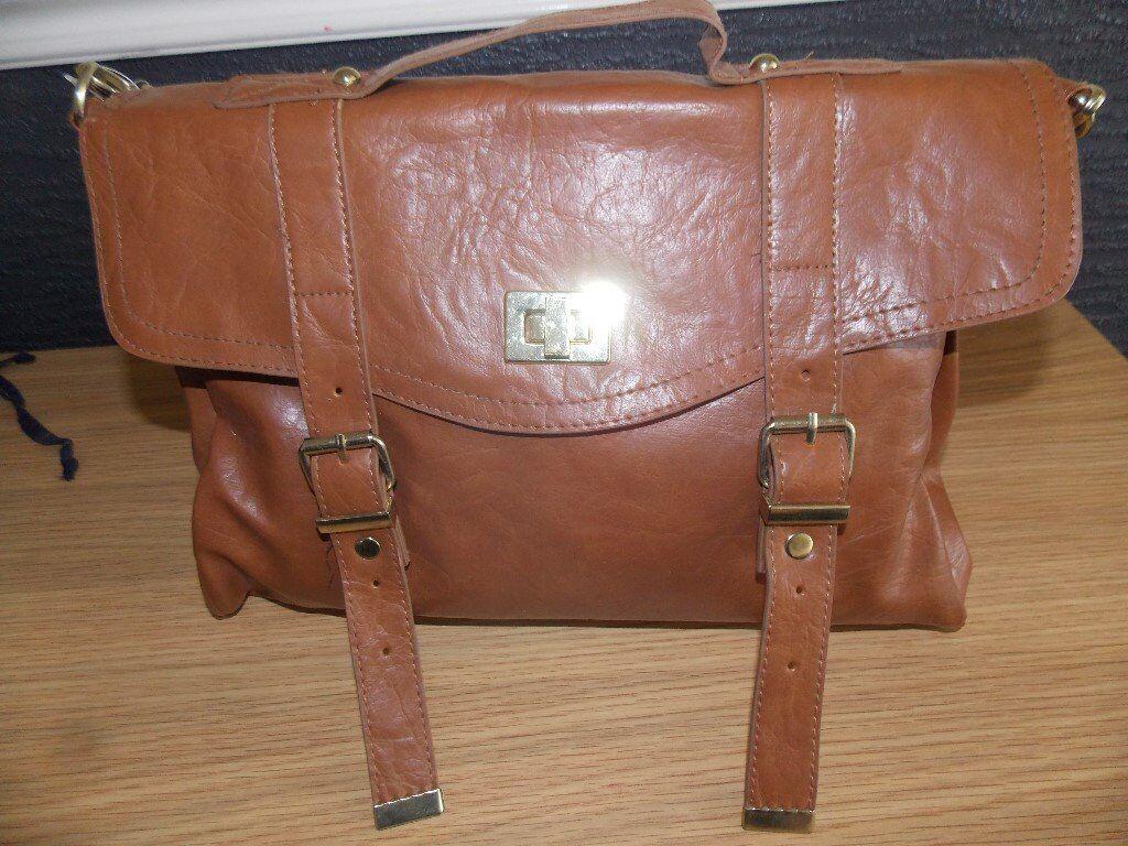 Brown Satchel Type Bag
