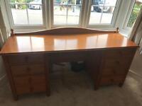 Wooden desk/dressing table