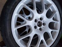 MG ZT or Rover 75 Set of 4 Hairpin Alloy wheels 18 inch 2 have good tyres fitted
