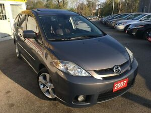 2007 Mazda MAZDA5 GT/LEATHER/ROOF/6PASS/LOADED/ALLOYS
