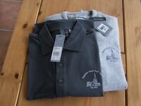 "ASHWORTH POLO TOP/ MATCHING SWEATER ""TAPTON PARK GOLF CLUB"" SET XL NEW WITH TAGS"