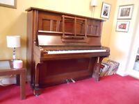 Vintage 1920s Zimmerman upright piano -overstrung and underdamped