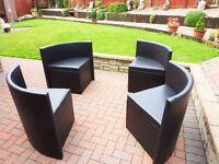 4 Brown Indoor Corner Chairs