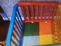 Multicoloured plastic Playpen