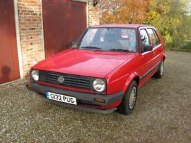 VW Golf Mk2 1.6, 1990, 5 door, reliable practical classic in regular use, full service history