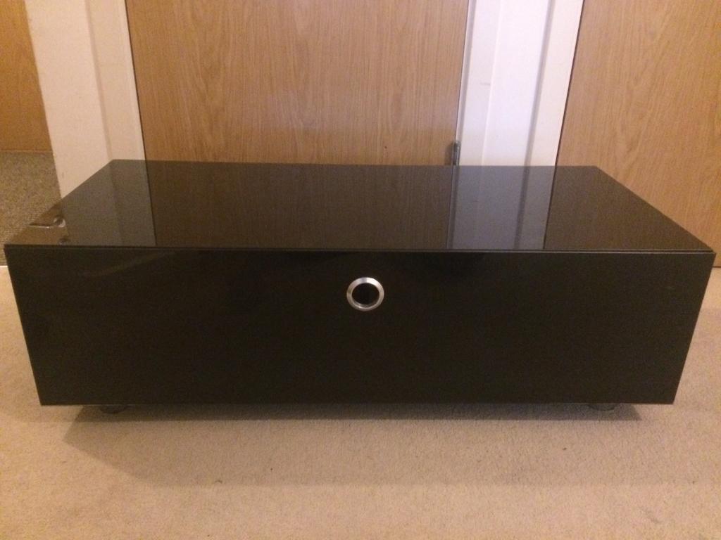 TV / Media cabinet (Black Glass)