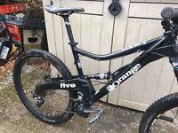 Orange 5s mountain bike. Large frame. Black. 27.5.
