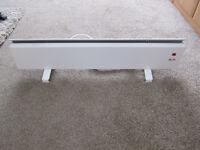 Glen - free standing 500 watt white electric skirting heater