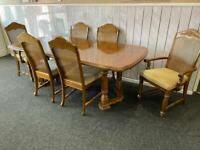 Stunning extending table and 6 chairs including 2 carvers