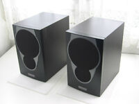 Mission MX1 Hi Fi speakers. Black Finish.