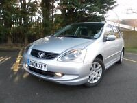 2004 HONDA CIVIC 1.6 SE 5 DOOR NEW MOT FULLY SERVICED CHEAP TO RUN GREAT CONDITION