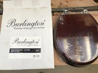 Burlington Mahogany Toilet Seat
