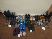 Bundle of boys footwear sizes 9 - 12 (22 pairs)