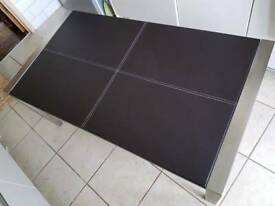 Coffee Table (faux leather / chrome)