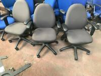 Dark Grey Adjustable Office Chair with Arms