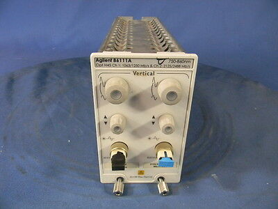 Agilent 86111a 3 Ghz Dual Channel Amplified Optical Module