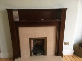 FIRE SURROUND - ART DECO WOODEN SURROUND