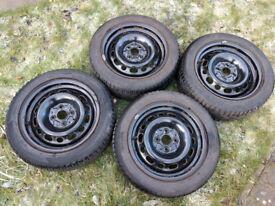 Mazda 2 winter tyres and steel wheels