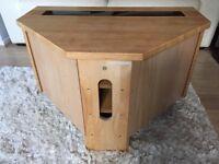 Oak Hi-Fi Cabinet W90cm D60cm H52cm