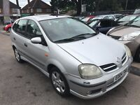 2004/04 NISSAN ALMERA TINO 1.8SE,SILVER,5 DOOR,SUPPLIED WITH A NEW MOT,LOOKS AND DRIVES WELL