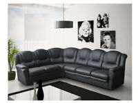 PAY WEEKLY/ MONTHLY NEW TEXAS CORNER OR 3+2 SEATER SOFA LEATHER OR FABRIC £22 PER WEEK