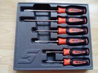 Snap on screwdrivers set