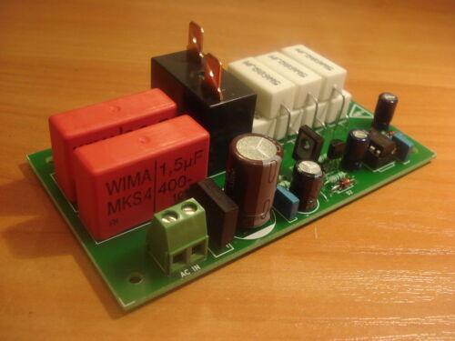 Soft-start, inrush current limiter for toroidal transformers-assembled, tested