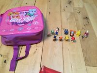 Paw Patrol - pink rucksack and figures