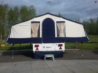 Trigano trailer tent, 4- 6 berth, full awning with some accessories. Some wear, see photos