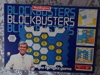 BLOCKBUSTERS QUIZ GAME - WADDINGTONS. - VINTAGE
