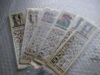 Six genuine Egyptian Bookmarks made from Papyrus Paper and laminated