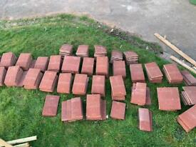 Red exterior tiles