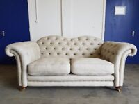 DFS BRITANNIA LIMITED EDITION TEAM GB CHESTERFIELD STYLE STUDDED 2 SEATER SOFA DELIVERY AVAILABLE