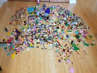 Large selection of lego, including Lego friends, Tangled and a cement mixer.