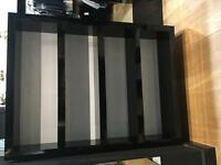Shop Fit - Bespoke Black Formica Shelving Unit
