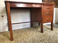 Vintage oak industrial office desk by Iblon