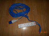 camping electricity hook up ower leed 15.5metres long