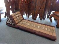 Two Thai Cushion 3 Fold brown for sale