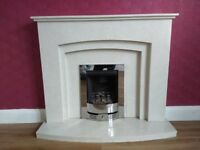 'Rossano Manila' micro marble fireplace