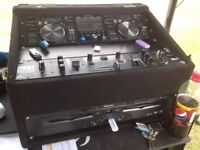 Pioneer MEP-7000 Professional Twin CD Player with New Jersey Sound Corp DJX-1800U 2 Channel mixer