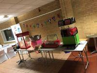 Slush Puppy Machine/Candy Floss Machine/Popcorn Machine/Chocolate Fountain HIRE!