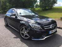 2014 Mercedes-Benz C Class 2.1 C220 BLUETEC AMG LINE 4d AUTO SAT NAV LEATHER REVERSE C
