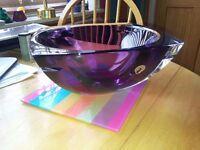 Waterford Amethyst Crystal Bowl