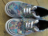 Boys VANS Marvel Superhero shoes size 13