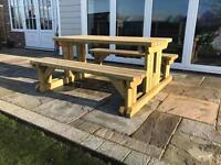 Garden Table & bench set